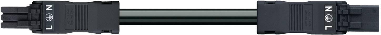 Sieťový pripojovací kábel sieťová zásuvka - sieťová zástrčka počet kontaktov: 3, čierna, 1 ks