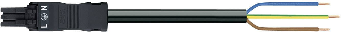 Sieťový pripojovací kábel sieťová zástrčka - kábel, otvorený koniec počet kontaktov: 2 + PE, čierna, 1 ks