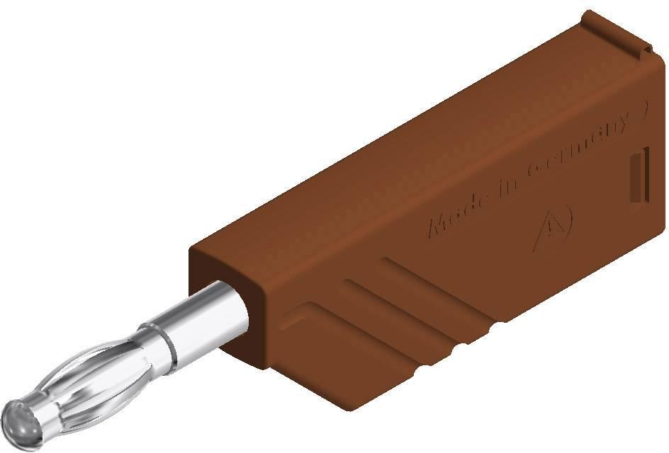 Lamelová zástrčka SKS Hirschmann LAS N WS braun – zástrčka, rovná, Ø hrotu: 4 mm, hnedá, 1 ks