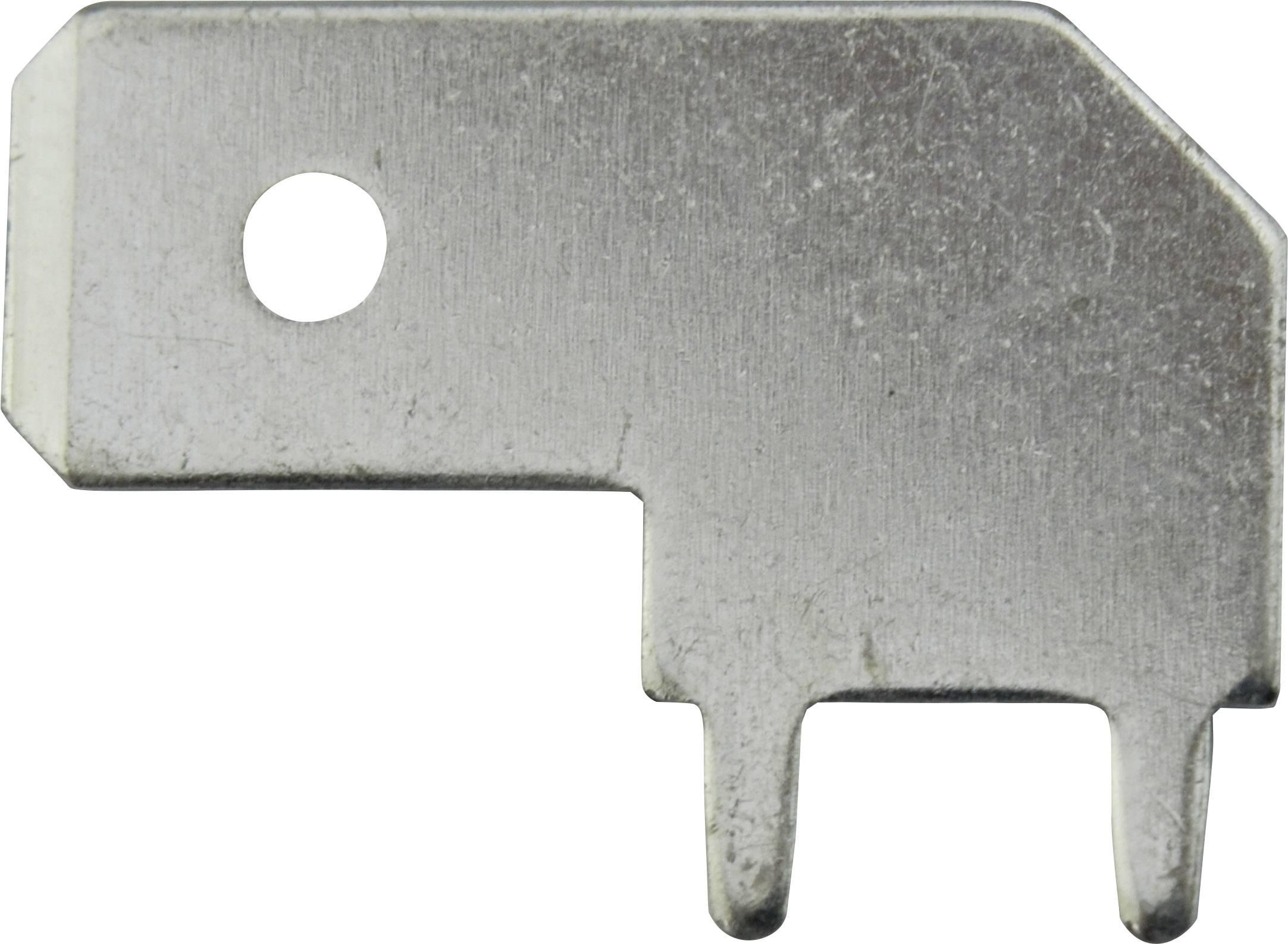 Faston zástrčka Vogt Verbindungstechnik 3867e.68 6.3 mm x 0.8 mm, 90 °, bez izolace, kov, 1 ks