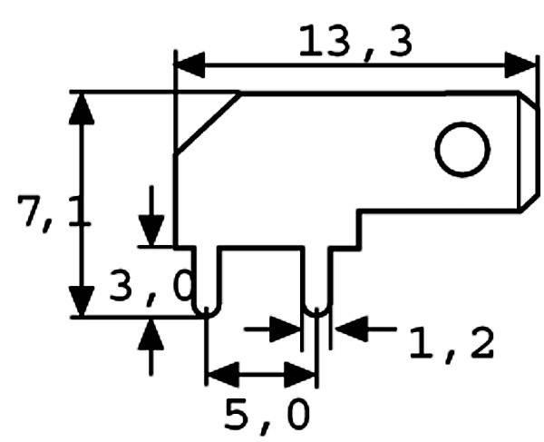 Jazýček konektora Vogt Verbindungstechnik 3867B.68 6.3 mm x 0.8 mm, 90 °, neizolované, kov, 1 ks