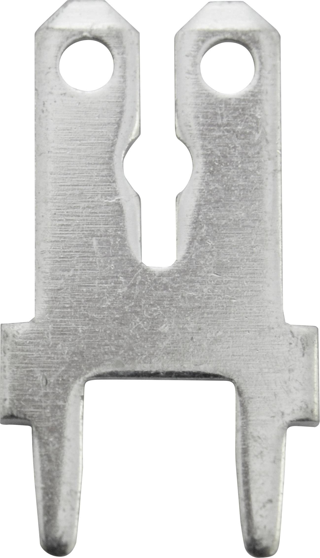 Faston zástrčka Vogt Verbindungstechnik 3866C.68 6.3 mm x 0.8 mm, 180 °, neizolované, kov, 1 ks