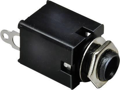 Jack konektor 6,35 mm BKL Electronic 1109030, zásuvka vestavná vertikální, 2pól./mono, stříbrná