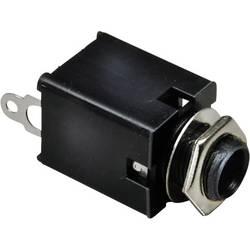 Jack konektor 6.35 mm čiernobiela zásuvka, vstavateľná vertikálna BKL Electronic 1109030, pinov 2, strieborná, 1 ks