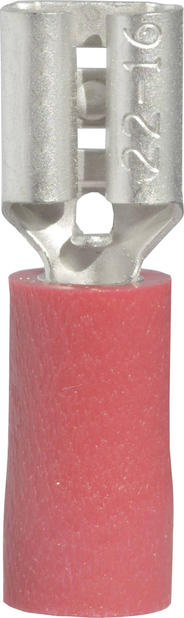 Faston konektor zásuvka Vogt Verbindungstechnik 3902S 4.8 mm x 0.8 mm, 180 °, čiastočne izolované, červená, 1 ks