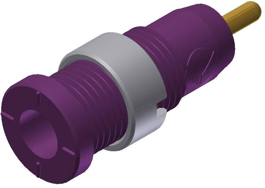 Bezpečnostná laboratórna zásuvka SKS Hirschmann MSEB 2630 S 1,9 Au – zásuvka, vstavateľná vertikálna, Ø hrotu: 2 mm, fialová, 1 ks