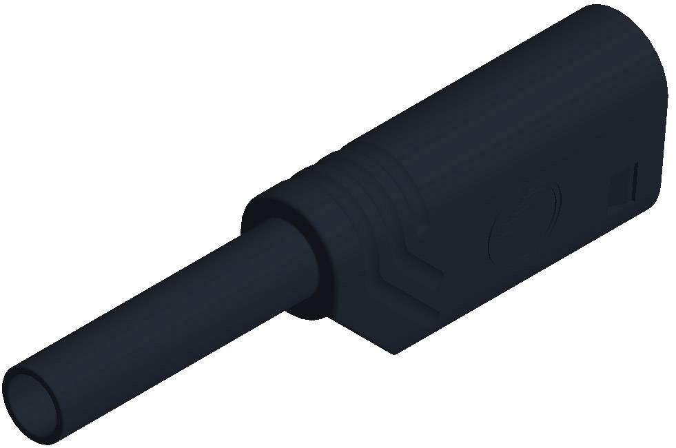 Laboratórna zástrčka SKS Hirschmann MST S WS 30 Au – zástrčka, rovná, Ø hrotu: 2 mm, čierna, 1 ks