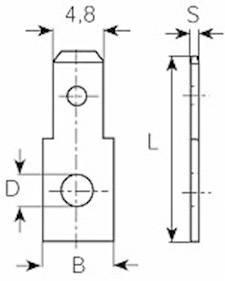 Jazýček konektora Vogt Verbindungstechnik 3822.67 4.8 mm x 0.8 mm, 180 °, neizolované, kov, 1 ks