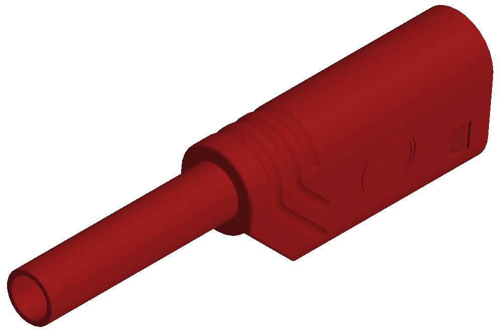 Laboratórna zástrčka SKS Hirschmann MST S WS 30 Au – zástrčka, rovná, Ø hrotu: 2 mm, červená, 1 ks