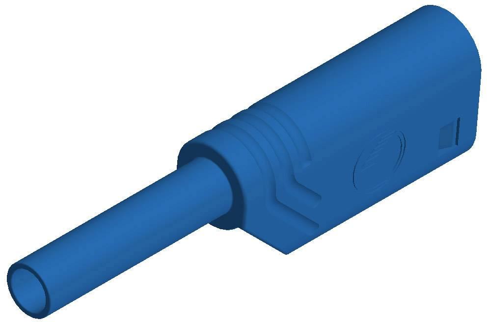 Laboratórna zástrčka SKS Hirschmann MST S WS 30 Au – zástrčka, rovná, Ø hrotu: 2 mm, modrá, 1 ks