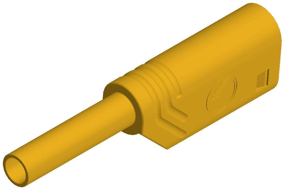 Laboratórna zástrčka SKS Hirschmann MST S WS 30 Au – zástrčka, rovná, Ø hrotu: 2 mm, žltá, 1 ks
