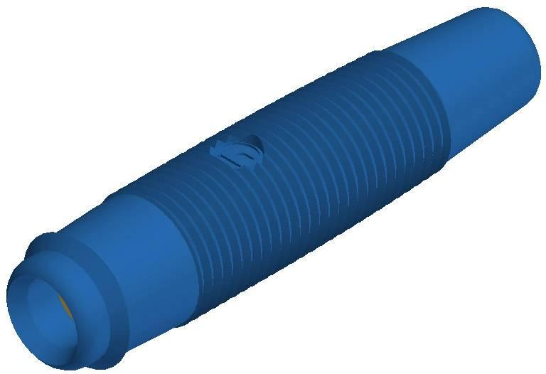Laboratórna zásuvka SKS Hirschmann KUN 30 Au – zásuvka, rovná, Ø hrotu: 4 mm, modrá, 1 ks