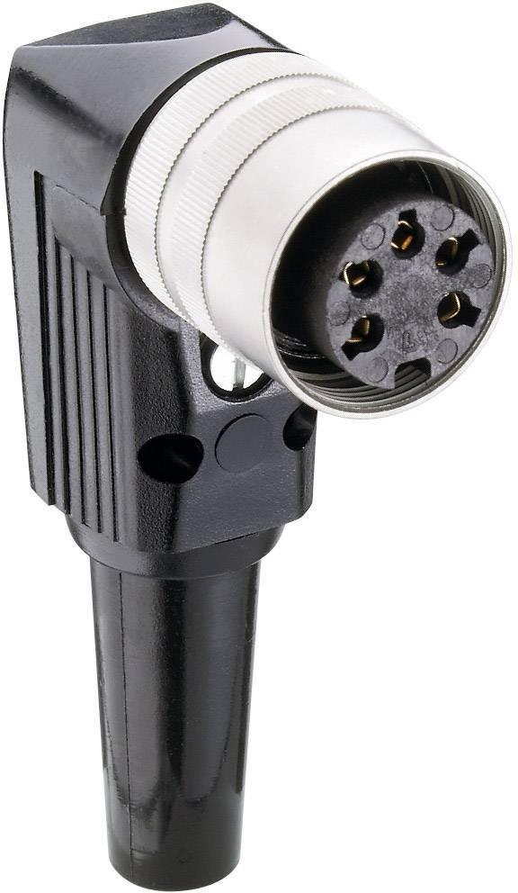 DIN kruhový konektor zásuvka, zahnutá Lumberg WKV 30, pólů 3, stříbrná, 1 ks