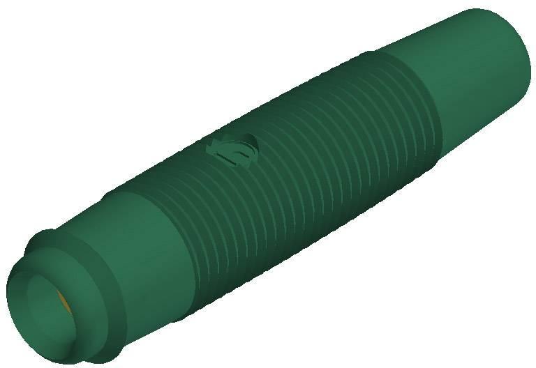 Laboratórna zásuvka SKS Hirschmann KUN 30 Au – zásuvka, rovná, Ø hrotu: 4 mm, zelená, 1 ks