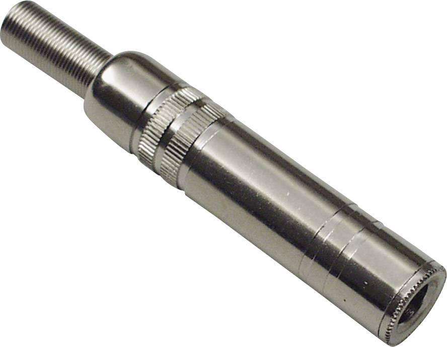 Jack konektor 3,5 mm BKL 1108005, stříbrná