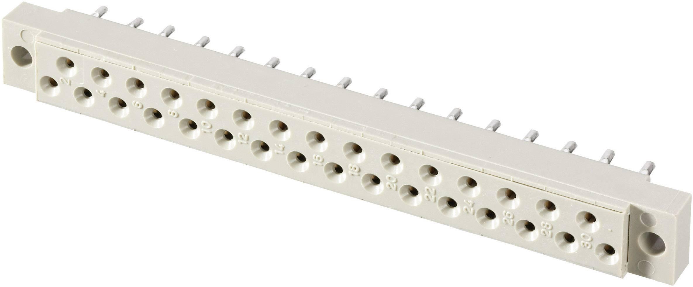 Kolíková lišta Conec 102A10039X, počet kontaktov 31, Počet riadkov 2, 1 ks