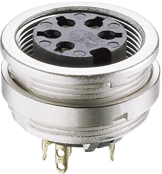 DIN kruhový konektor zásuvka, vestavná vertikální Lumberg KFV 40, pólů 4, stříbrná, 1 ks