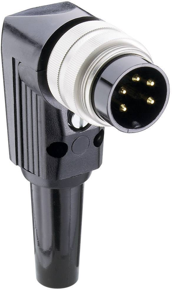 DIN kruhový konektor zástrčka, zahnutá Lumberg WSV 50/6, počet pinov: 5, strieborná, 1 ks