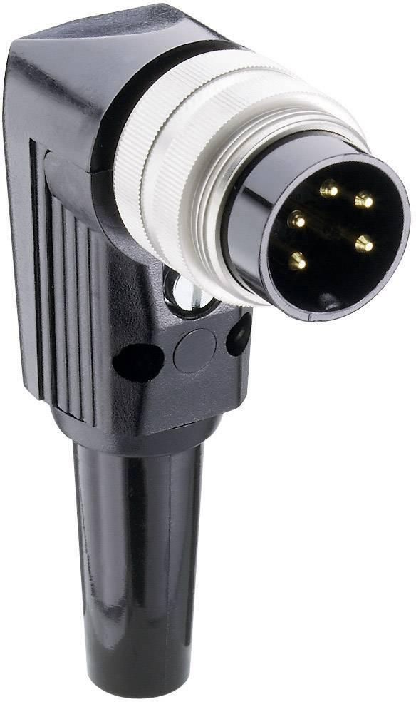 DIN kruhový konektor zástrčka, zahnutá Lumberg WSV 80, pinov 8, strieborná, 1 ks