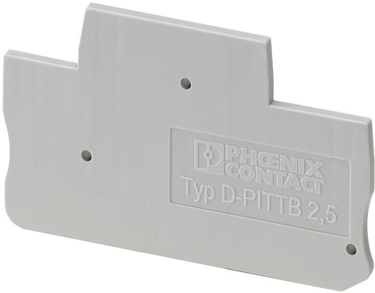Koncová destička Phoenix Contact D-PITTB 2,5 (3211634), šedá