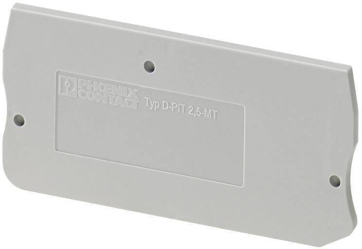 Koncová destička Phoenix Contact D-PIT 2,5-MT (3211003), šedá