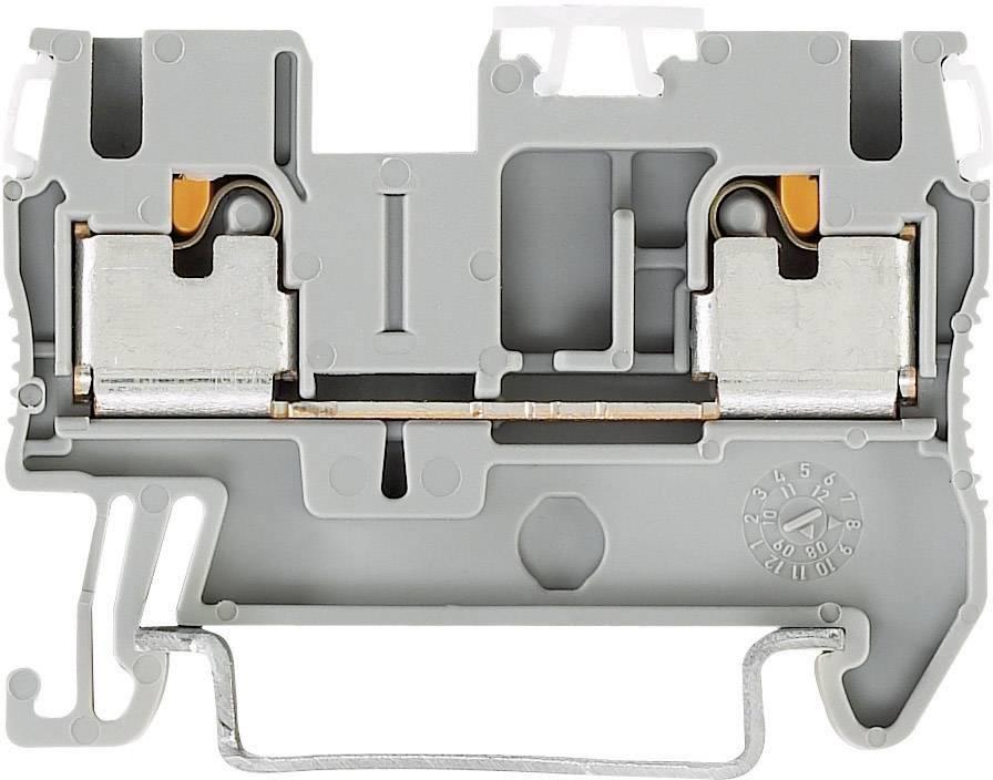 Svorka Push-in průchodová Phoenix Contact PIT 2,5 (3209510), 5,2 mm, šedá