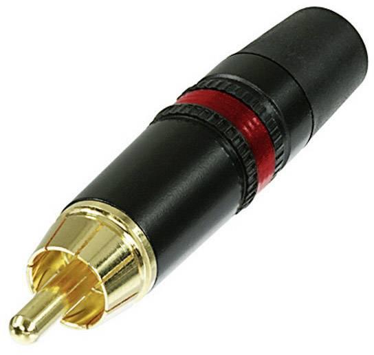 Cinch konektor zástrčka, rovná Rean AV NYS373-2, pólů 2, černá, červená, 1 ks