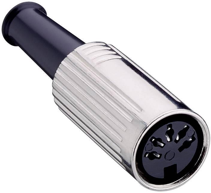 DIN kruhový konektor zásuvka, rovná Lumberg 0121 04, pinov 4, strieborná, 1 ks