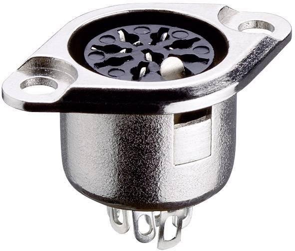DIN kruhový konektor prírubová zásuvka, rovná Lumberg 0103 04, pinov 4, strieborná, 1 ks