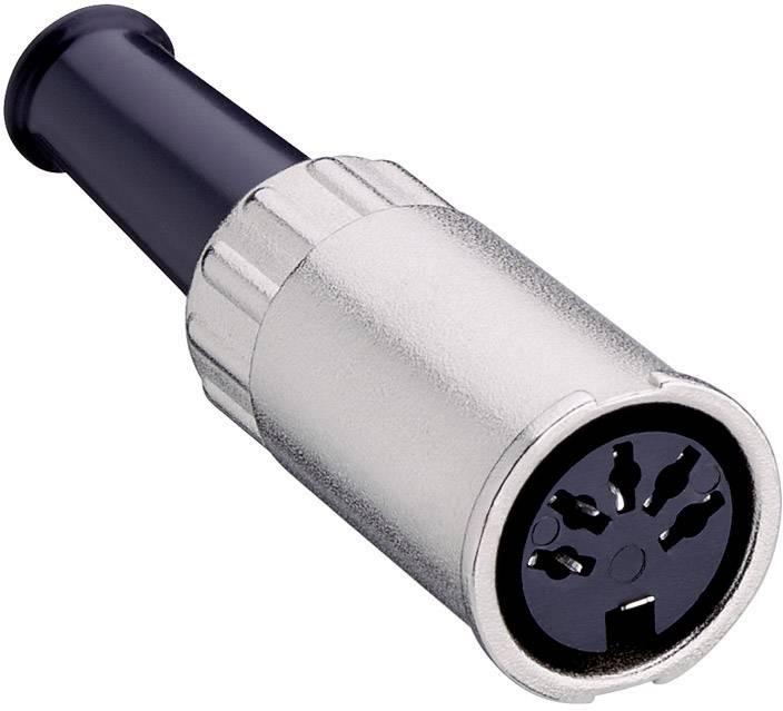 DIN kruhový konektor Lumberg 0122 05-1 zásuvka, rovná, počet pinov: 5, strieborná, 1 ks