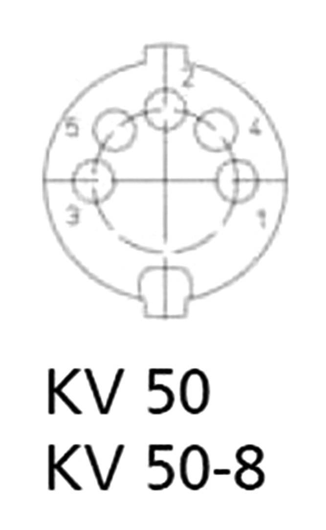 DIN kruhový konektor Lumberg KV 50, zásuvka, rovná, pólů 5, stříbrná, Cu Zn, 1 ks