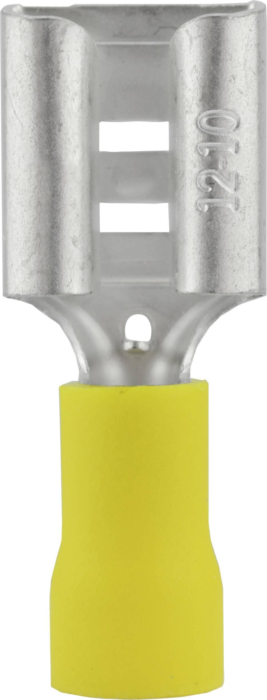 Faston konektor zásuvka Vogt Verbindungstechnik 3914S 9.5 mm x 1.2 mm, 180 °, čiastočne izolované, žltá, 1 ks