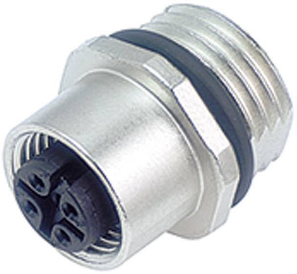 Konektor pro senzory Binder 763-09-3432-578-04, M12, přírubová zásuvka, IP67
