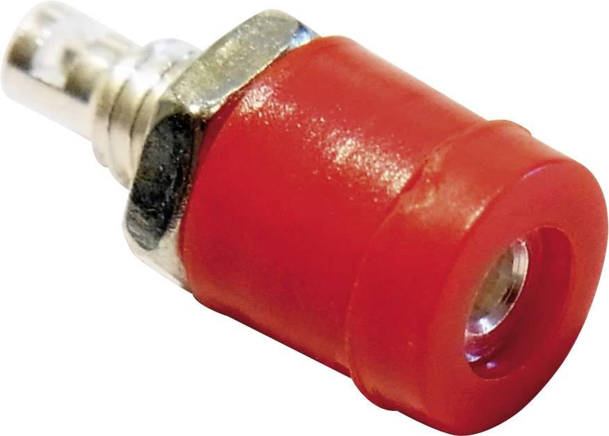 Mini laboratórna zásuvka Schnepp BU 2400 – zásuvka, vstavateľná vertikálna, Ø hrotu: 2 mm, červená, 1 ks