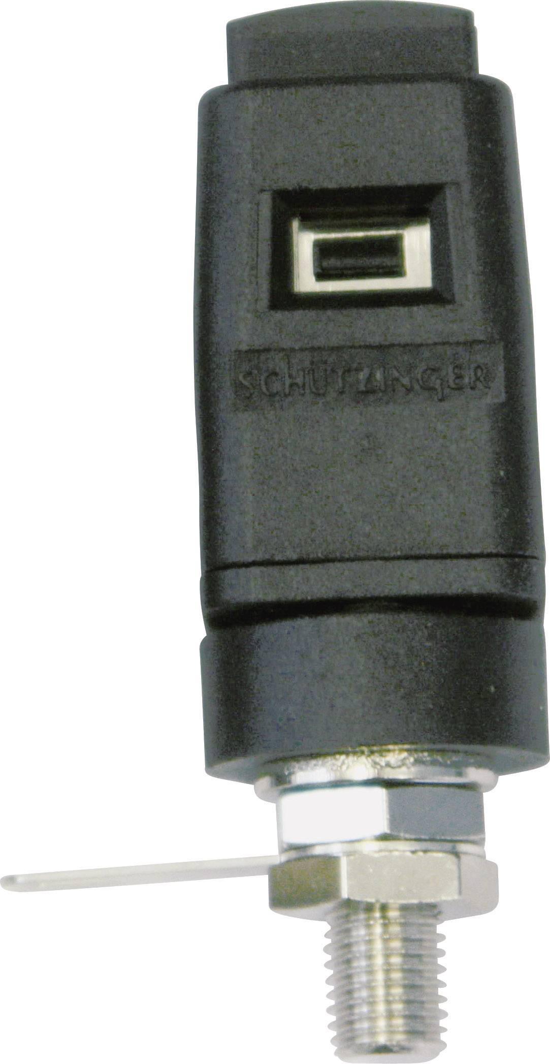 Rýchloupínacia svorka Schützinger 16 A, čierna, 1 ks