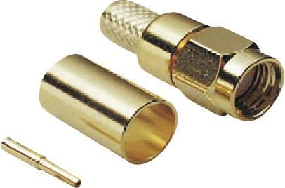 SMA reverzní konektor BKL 409078, 50 Ω, zástrčka, RG 58