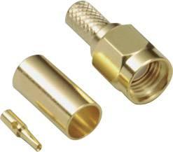 SMA reverzný konektor BKL 409083, 50 Ω, zástrčka, RG 174