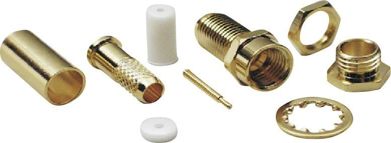 SMA reverzný konektor BKL 409080, 50 Ω, zásuvka, RG 58
