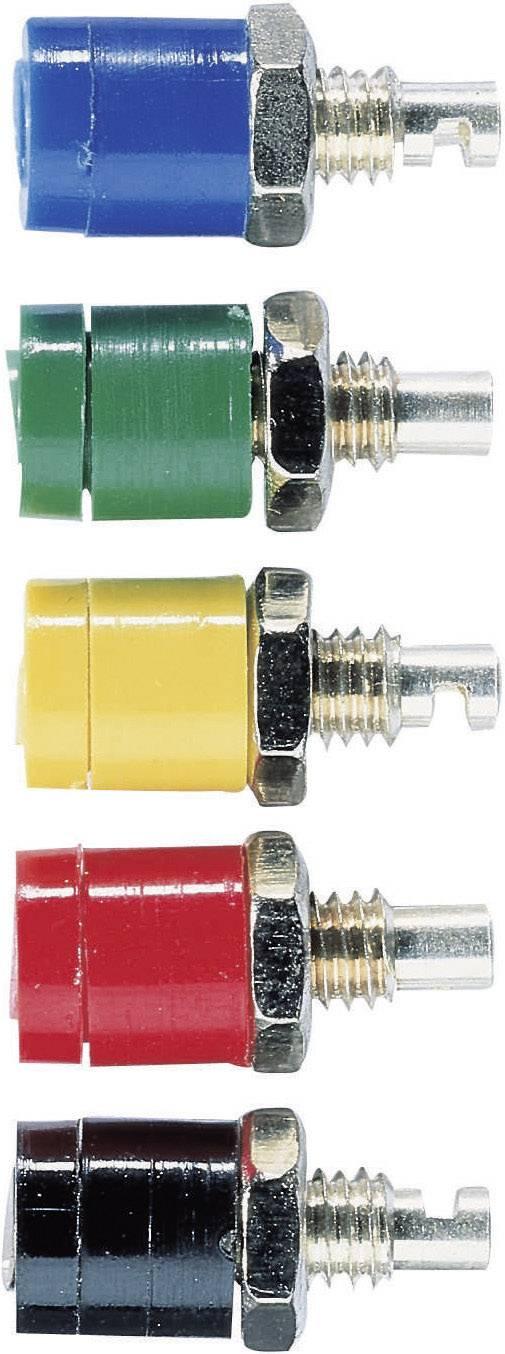 Mini laboratórna zásuvka Schnepp BU 2400 – zásuvka, vstavateľná vertikálna, Ø hrotu: 2 mm, čierna, 1 ks