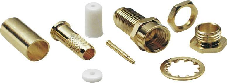 SMA reverzný konektor BKL 409084, 50 Ω, zásuvka, RG 174