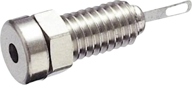 Mini laboratórna zásuvka SKS Hirschmann MBU 1 – zásuvka, vstavateľná vertikálna, Ø hrotu: 2 mm, strieborná, 1 ks