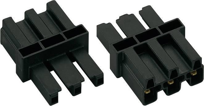 Sieťová spojka sieťová zástrčka - sieťová zásuvka počet kontaktov: 2 + PE, čierna, 1 ks