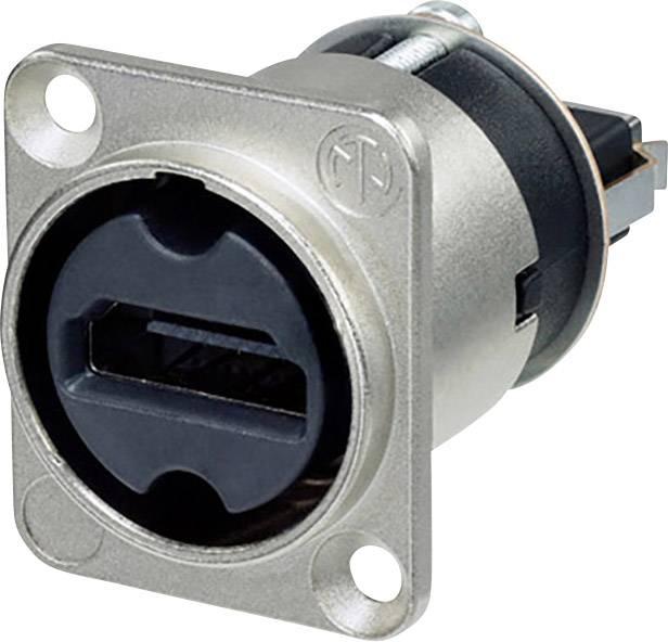 HDMI konektor prírubová zásuvka, rovná Neutrik NAHDMI-W, pinov 19, strieborná, 1 ks