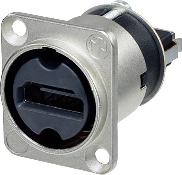 HDMI konektor prírubová zásuvka, rovná Neutrik NAHDMI-W, počet pinov: 19, strieborná, 1 ks