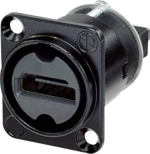 HDMI konektor prírubová zásuvka, rovná Neutrik NAHDMI-W-B, počet pinov: 19, čierna, 1 ks