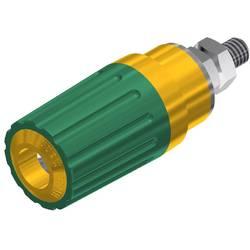 Pólová svorka SKS Hirschmann PKI 100 (930757188), (Ø x d) 15 x 41,5 mm, žlutozlená