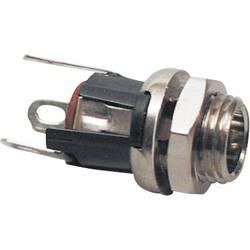 Nízkonapěťový konektor TRU COMPONENTS 1582319, 12 V/DC, 5 A, zásuvka, vestavná vertikální, 2.1 mm, 1 ks