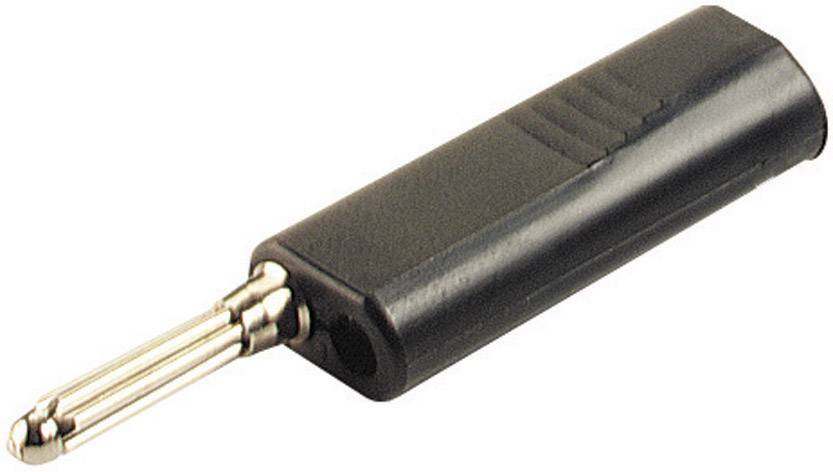 Banánový konektor SKS Hirschmann BSB 300 – zástrčka, rovná, Ø hrotu: 4 mm, čierna, 1 ks