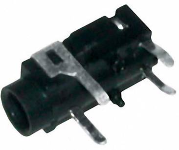Jack konektor 3.5 mm stereo zásuvka, vstavateľná horizontálna BKL Electronic 3, strieborná, 1 ks