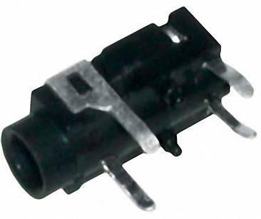Jack konektor 3.5 mm stereo zásuvka, vstavateľná horizontálna BKL Electronic počet pinov: 3, strieborná, 1 ks